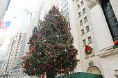 New York City, NY, USA – December 28, 2014: New York Stock Exchange Christmas Tree.