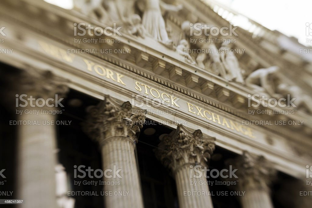 New York Stock Exchange facade stock photo