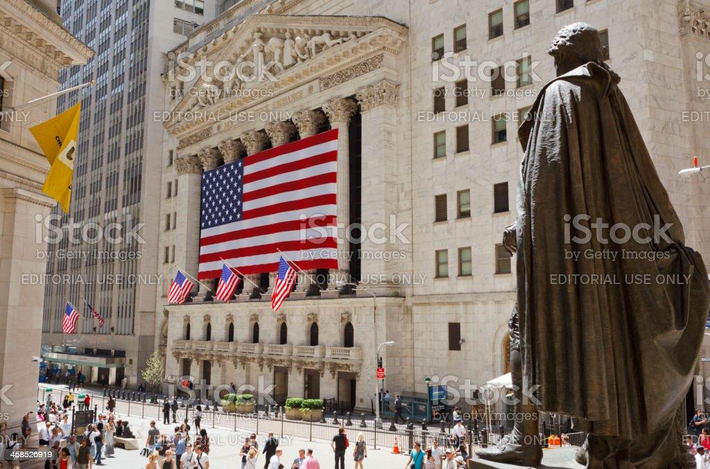 Bolsa de Valores de Nova York Manhattan - foto de acervo