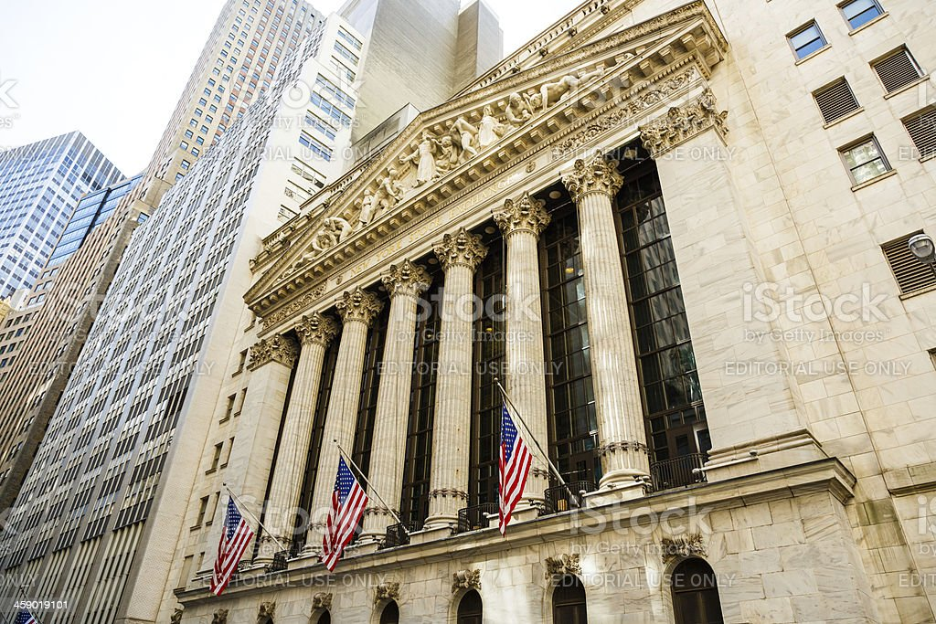 New York Stock Exchange NYSE, NYC, USA stock photo