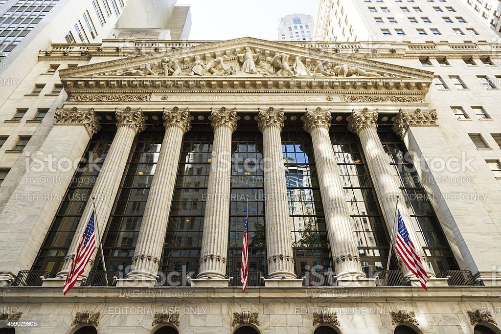 New York Stock Exchange NYSE, NYC, USA royalty-free stock photo