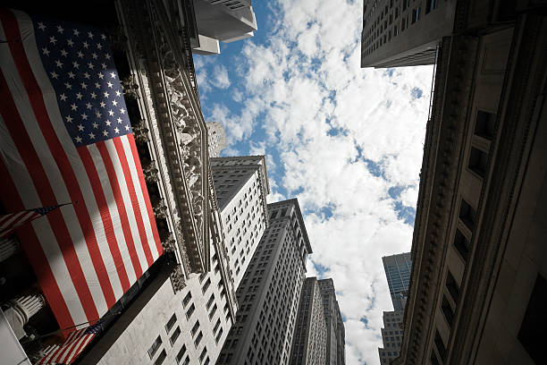 new york stock exchange - wall street lower manhattan stock pictures, royalty-free photos & images