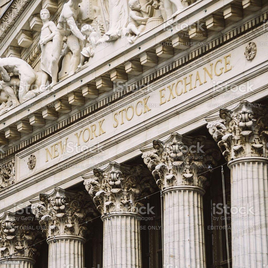 Bolsa de Nova York - foto de acervo