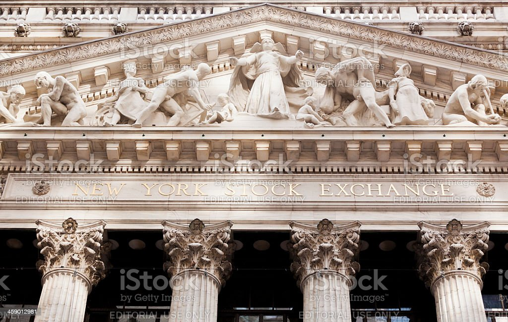 New York Stock Exchange royalty-free stock photo