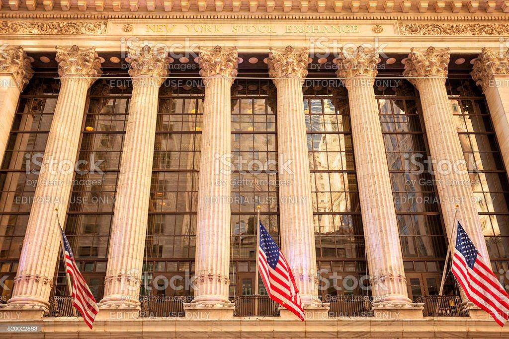 New York Stock Exchange, Wall Street stock photo