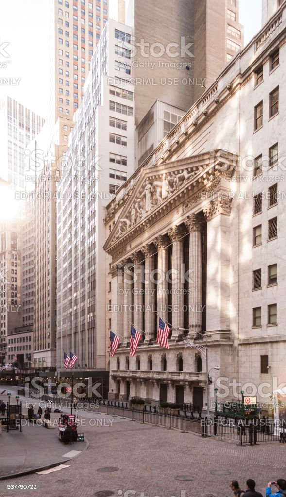 New York stock exchange, Wall Street, USA – Stockfoto stock photo