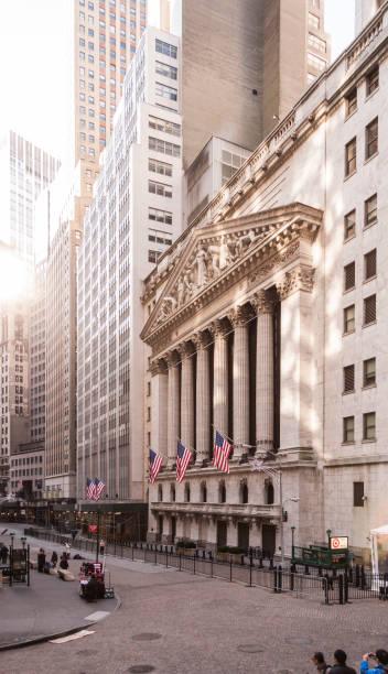 new york stock exchange, wall street, usa – stockfoto - nyse crash imagens e fotografias de stock