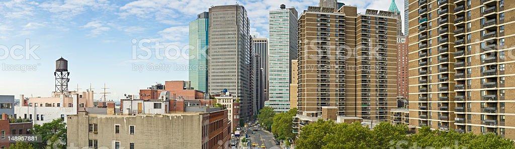 New York street scene high rises royalty-free stock photo