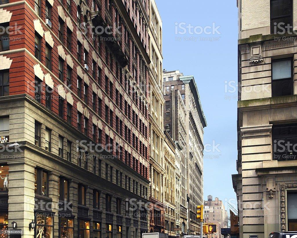 New York street scenery royalty-free stock photo