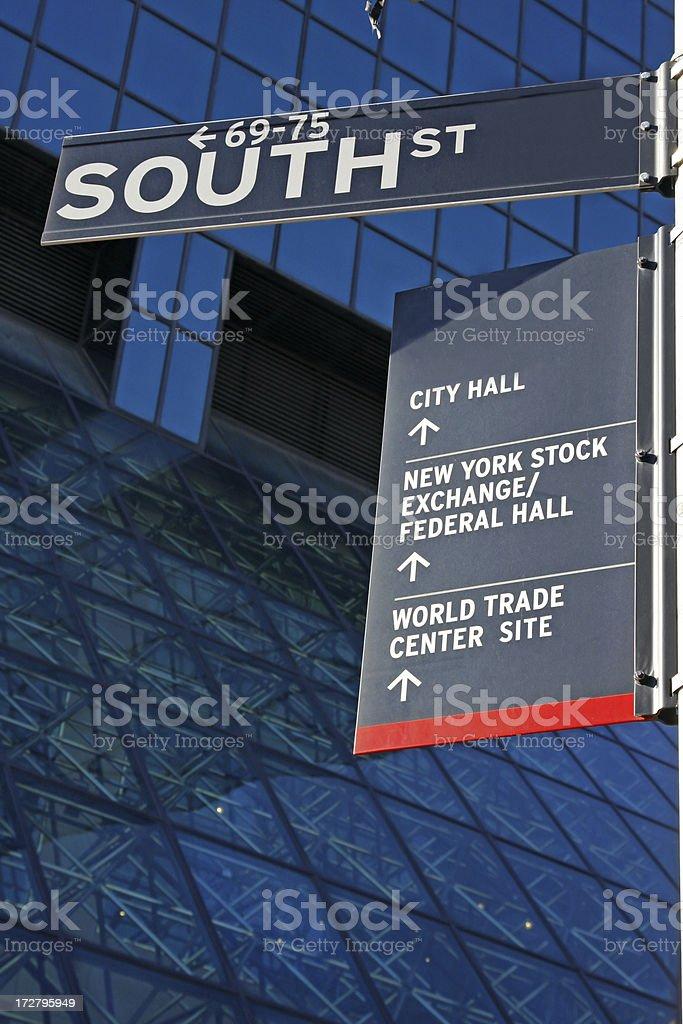 New York street sign royalty-free stock photo
