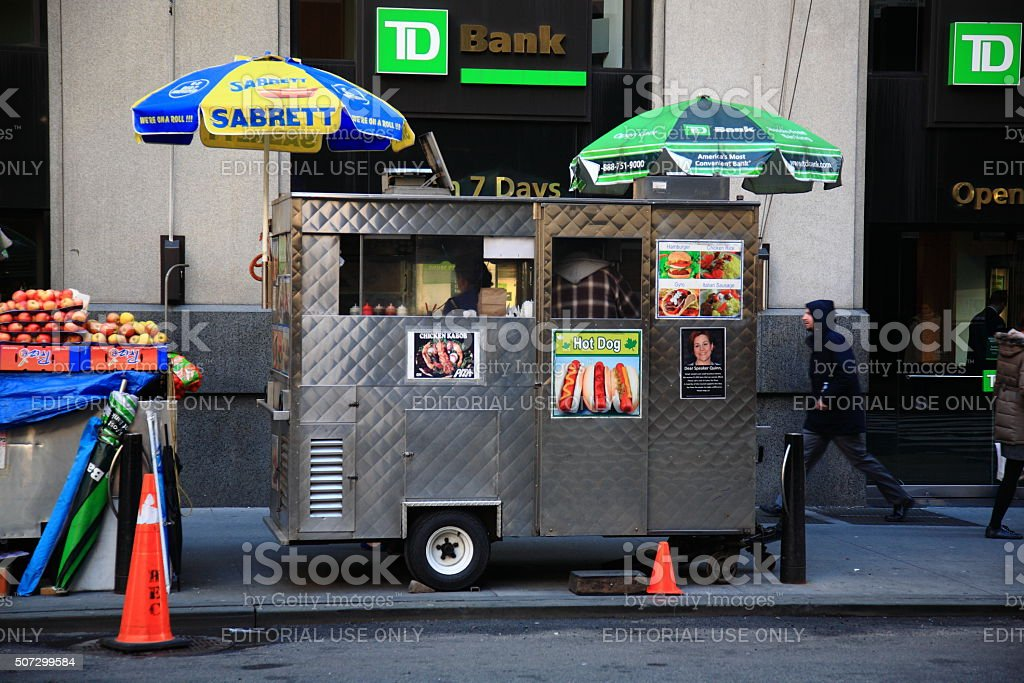 New York Street Vendor stock photo