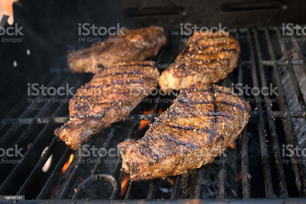New York Strip Steaks royalty-free stock photo