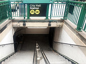 City Hall subway entrance in New York