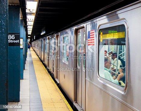 New York City Subway at 86th Street in New York City