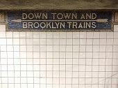NYC Subway sign.