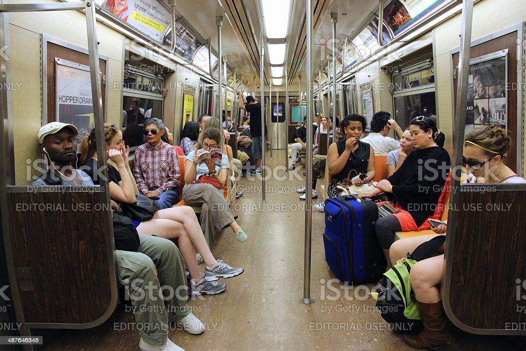 New York subway stock photo