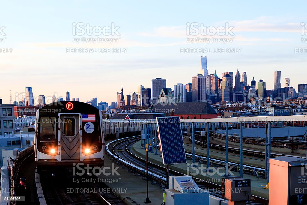New York Subway stock photo