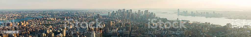 New York super panorama royalty-free stock photo