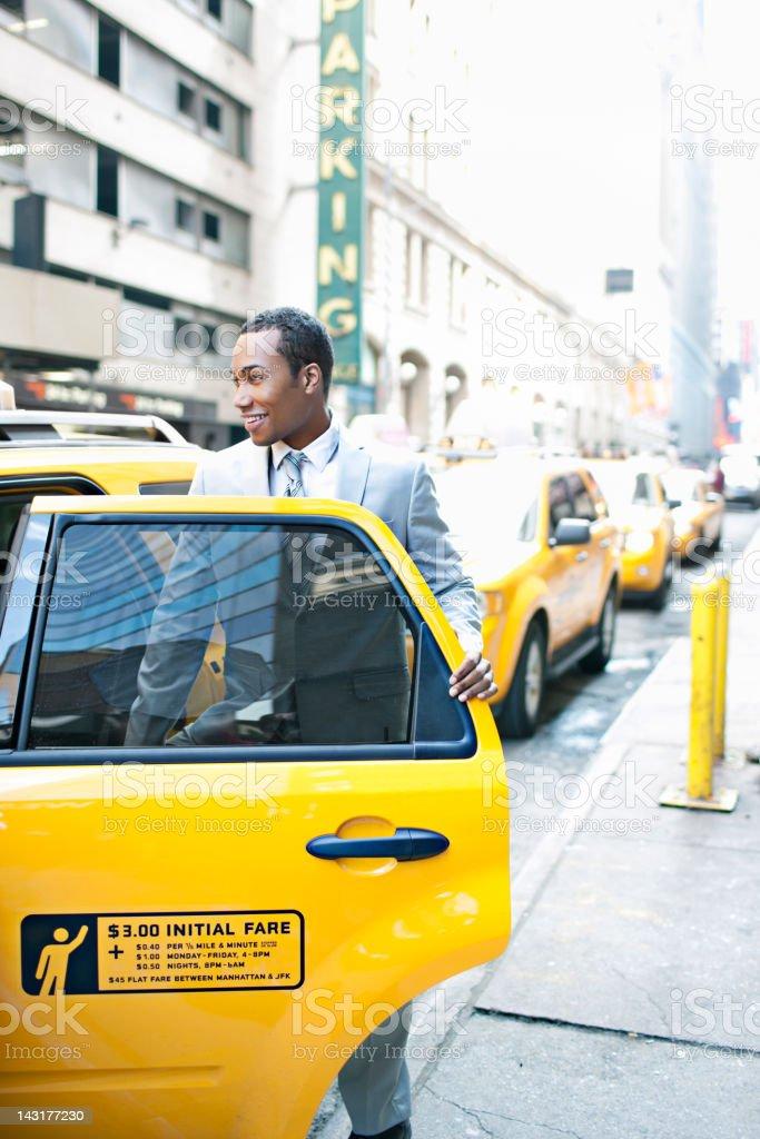 New York taxi rush royalty-free stock photo
