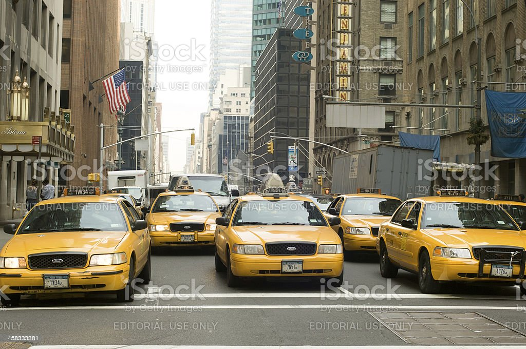 New York Taxis royalty-free stock photo