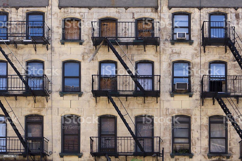 New York Tenement Building stock photo