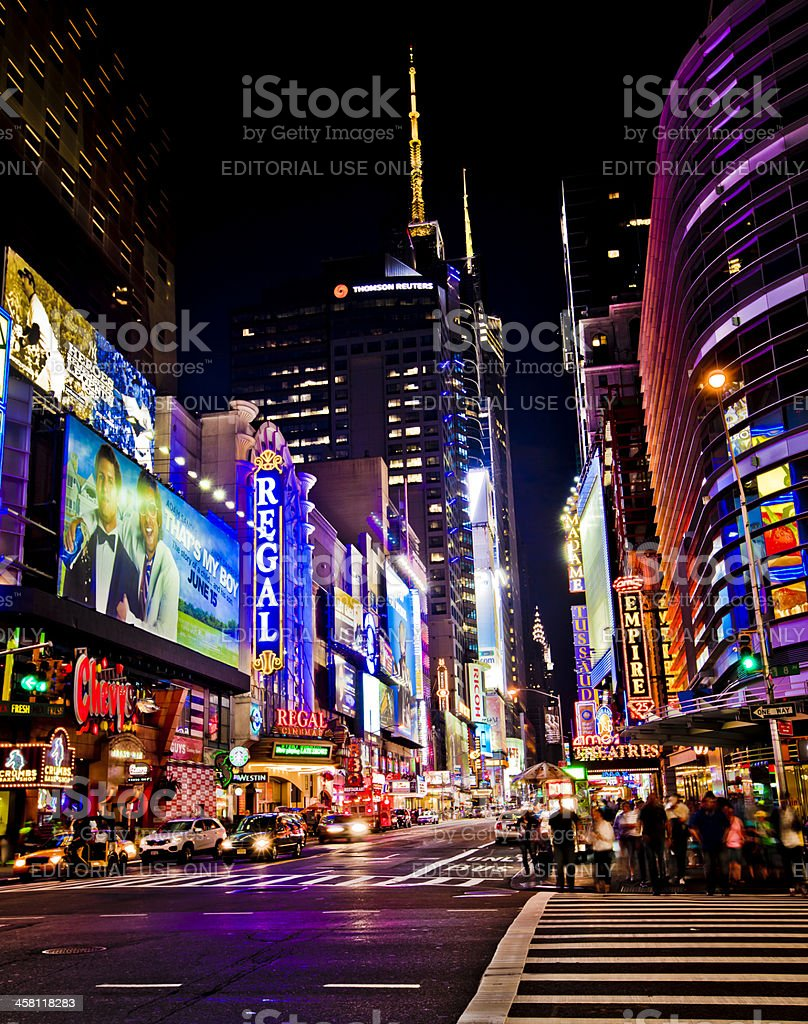 New York Theater District stock photo