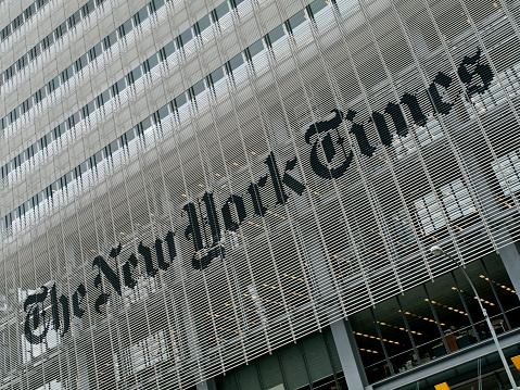 New York, New York, USA - August, 16th 2010. The New York Times Building in Manhattan