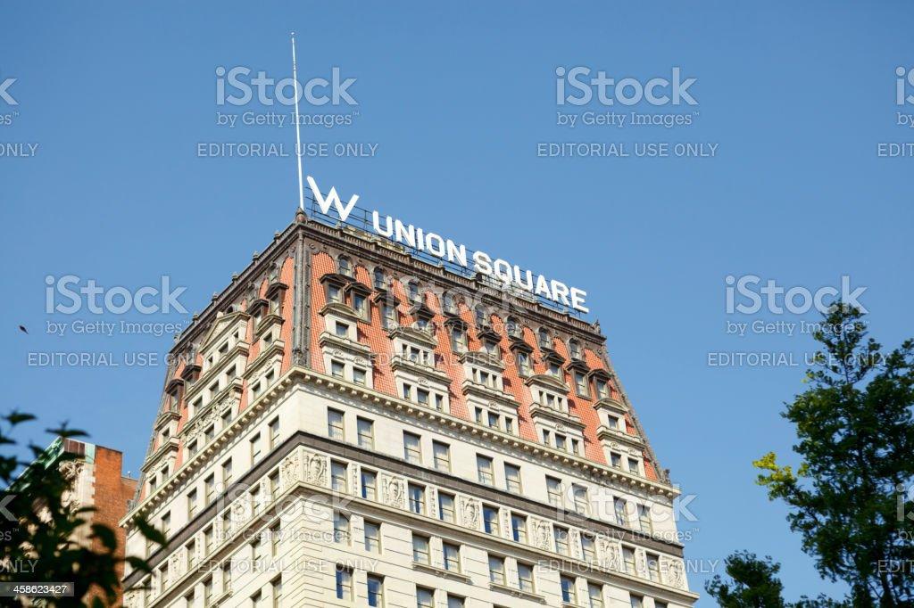 W New York - Union Square Hotel Manhattan stock photo