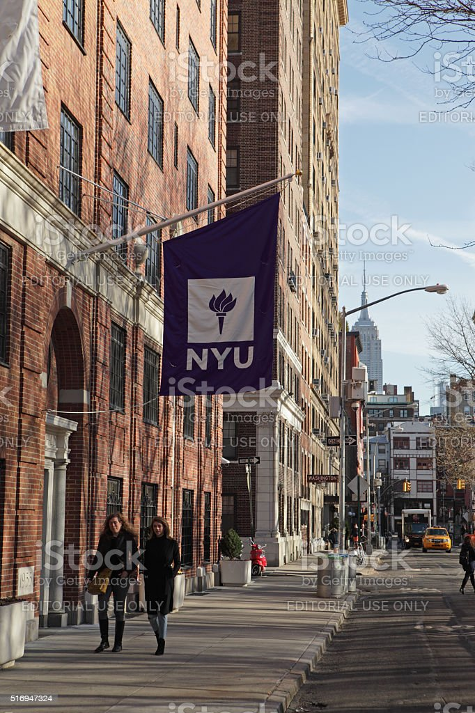 New York University buildings on Washington Square West stock photo