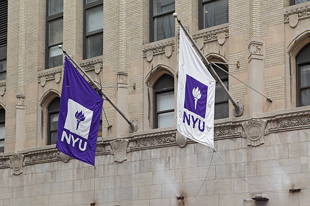 New York University Flaggen und logos – Foto