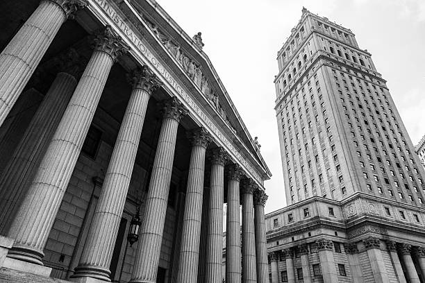 New York, USA: Courthouse and Justice Building stock photo
