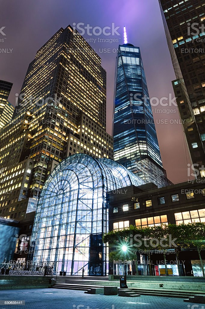 New York, USA -  Freedom Tower in Lower Manhattan stock photo