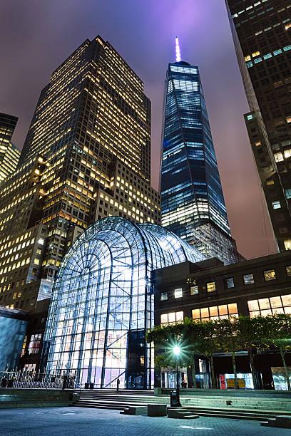 New York, USA -  Freedom Tower in Lower Manhattan stock photo