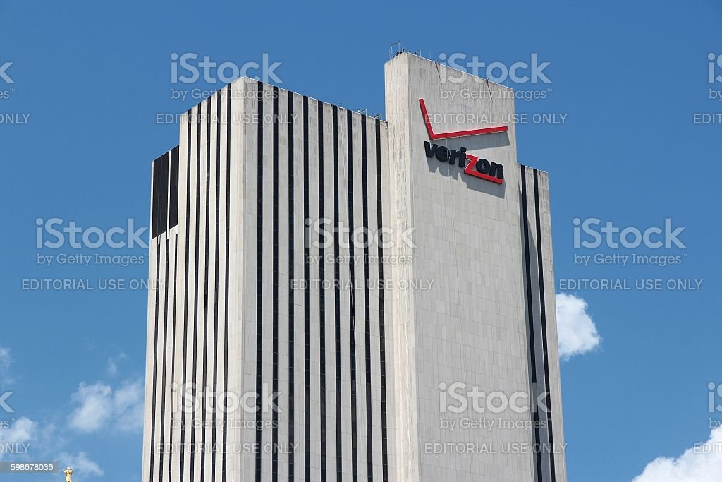New York Verizon building stock photo
