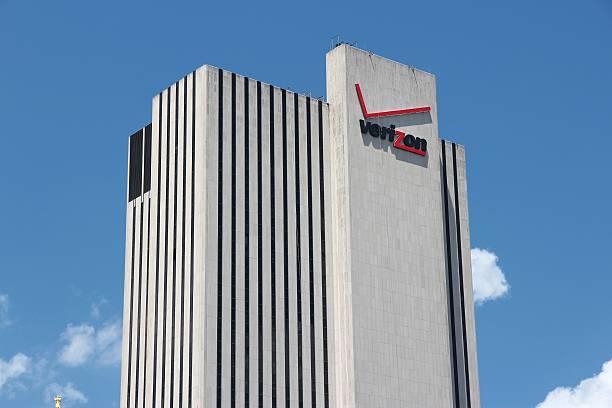 New York Verizon building stock photo