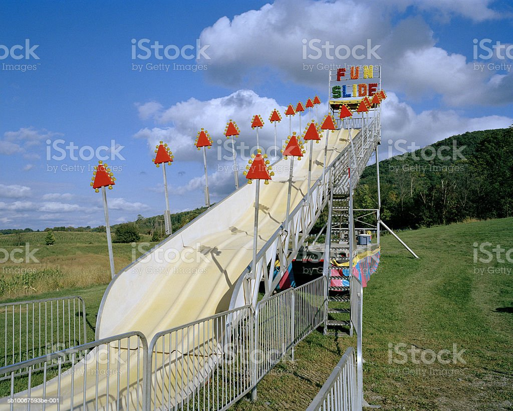 New York, Warwick, Slide in amusement part foto royalty-free
