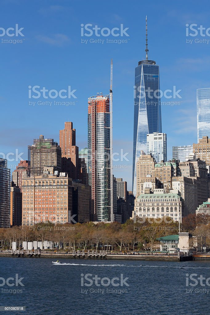 New york water front stock photo