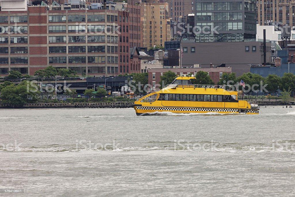 New York Water Taxi, Hudson River, Midtown Manhattan stock photo