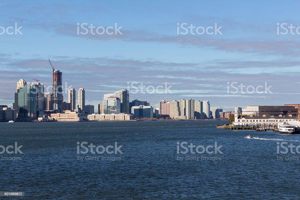 New york waterfront stock photo