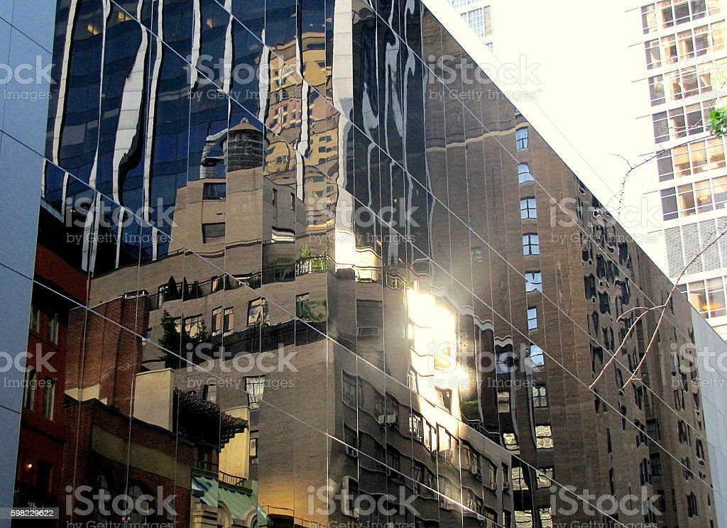 New York window reflections foto royalty-free