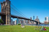 istock New Yorkers enjoying a beautiful day in Brooklyn Bridge Park 1264576979