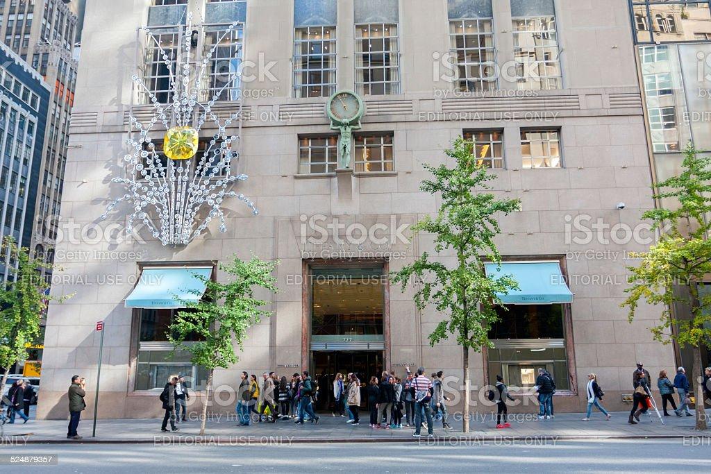 New York's 5th Avenue (Tiffany & Co.) stock photo
