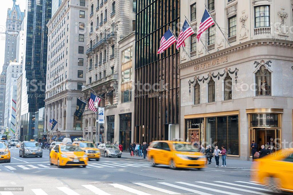 New York's 5th Avenue stock photo