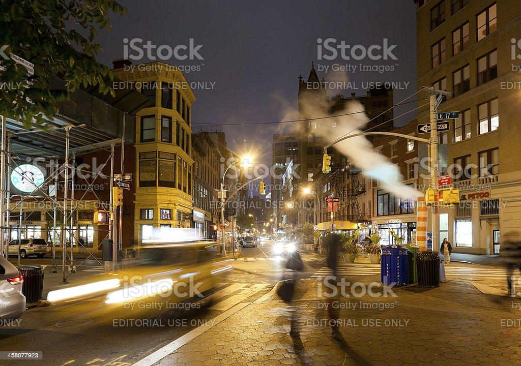 New York's Union Square at Night stock photo