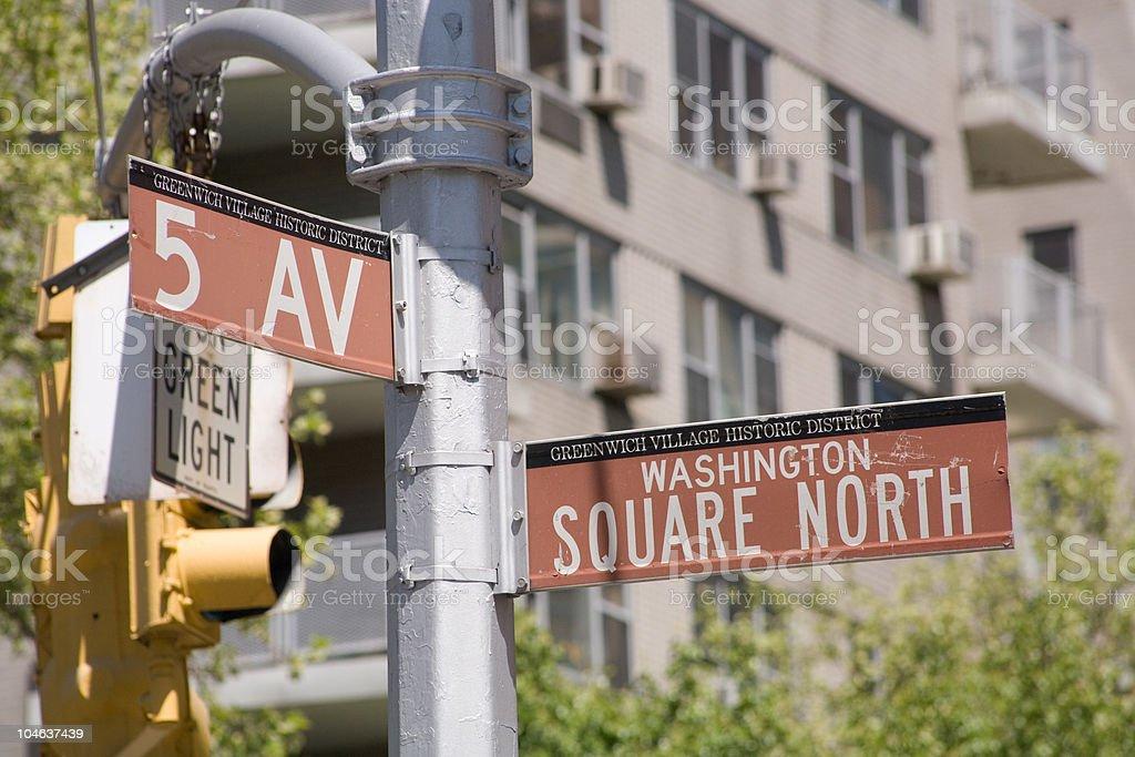 New York's Washington Square at 5th Avenue royalty-free stock photo