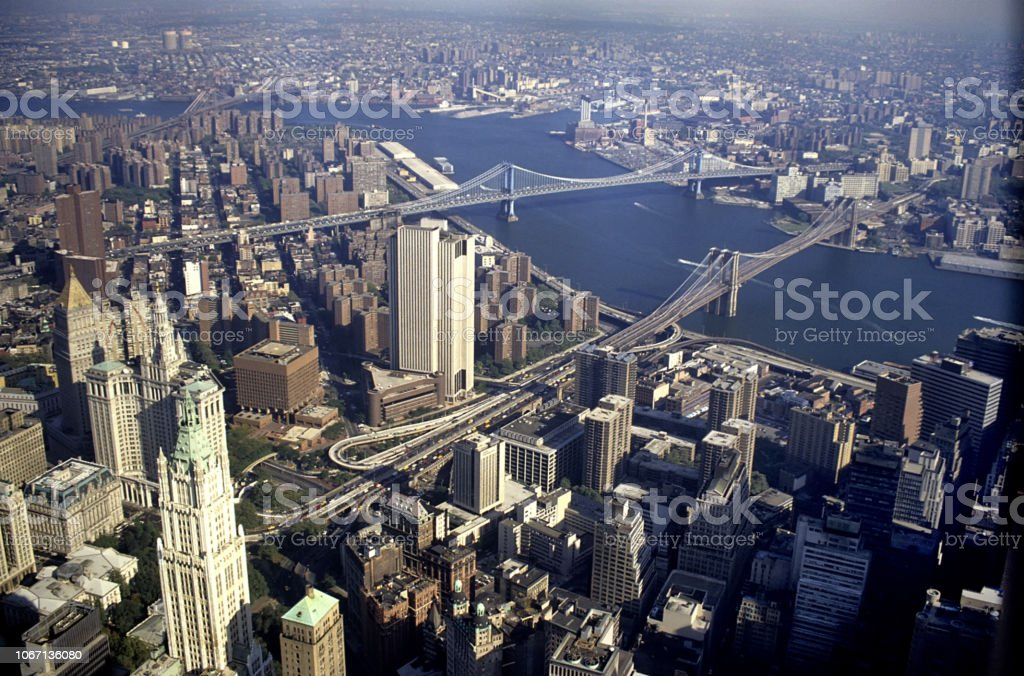 New York.Vintage picture taken in 1994 stock photo