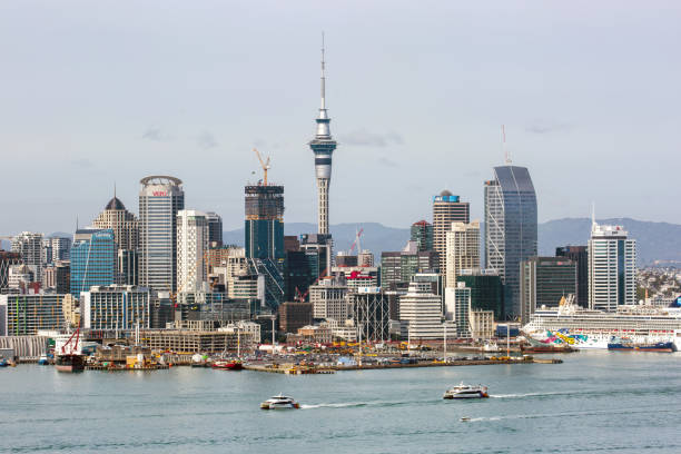 New Zealand: Auckland Skyline stock photo