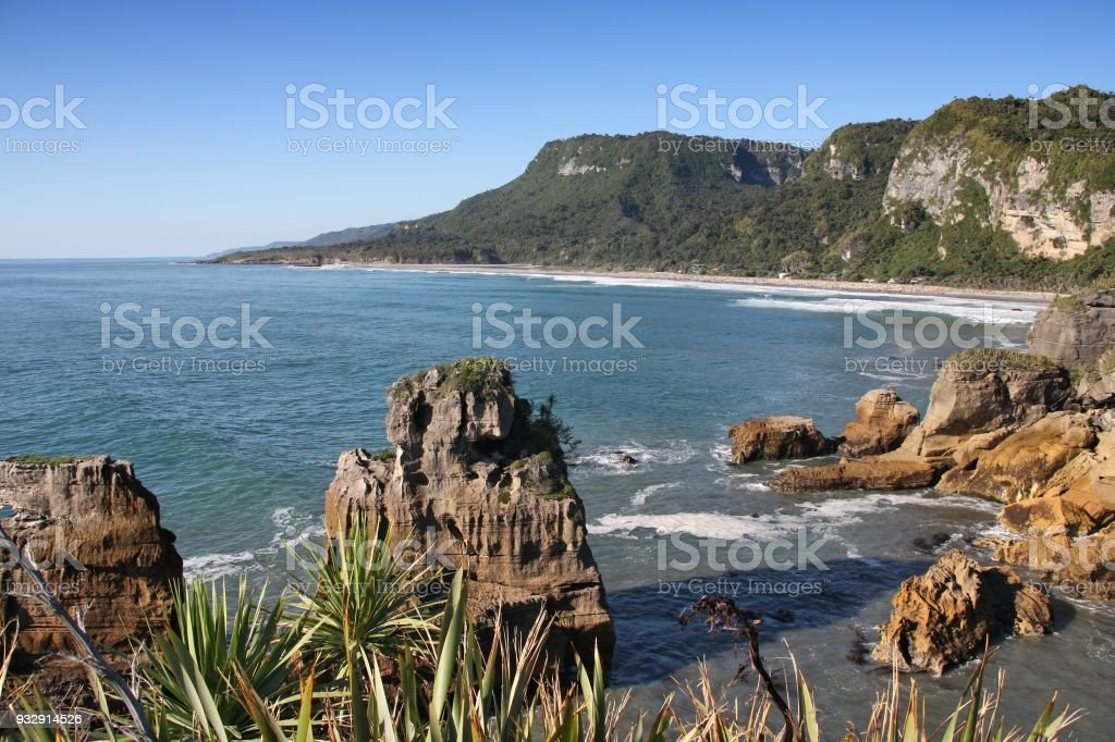 New Zealand coast stock photo