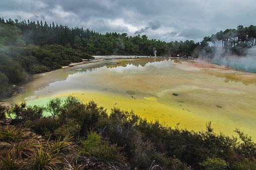 New Zealand Colored Lakes National Park Waiotapu Stock Photo - Download Image Now