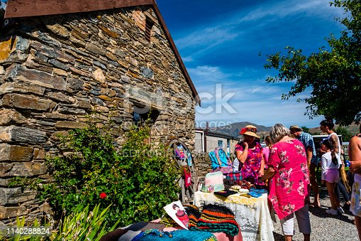 2019 FEB 12, New Zealand, Cromwell, A local people shopping at Sunday market on a nice day..